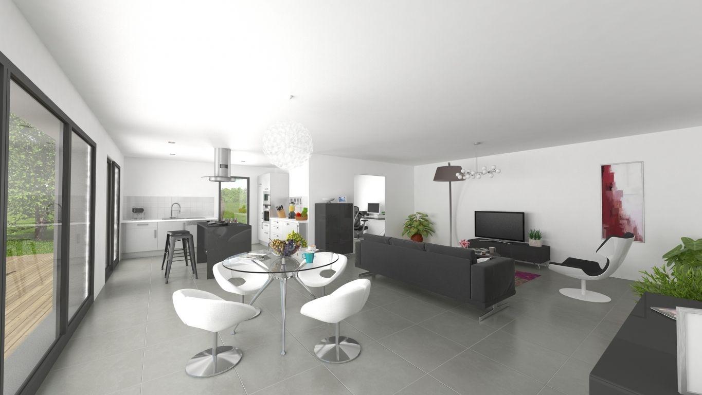 Plan 3D intérieur maison modèle Arnoult