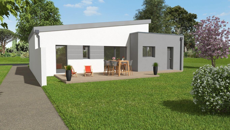 Plan 3D modèle maison Beneteau façade arrière