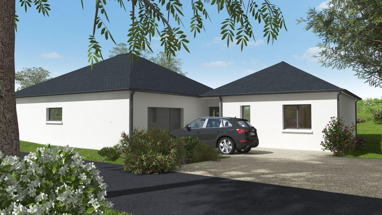 Façade maison neuve plan 3D