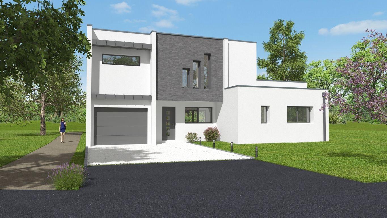 Façade avant d'une maison neuve Carolini 2
