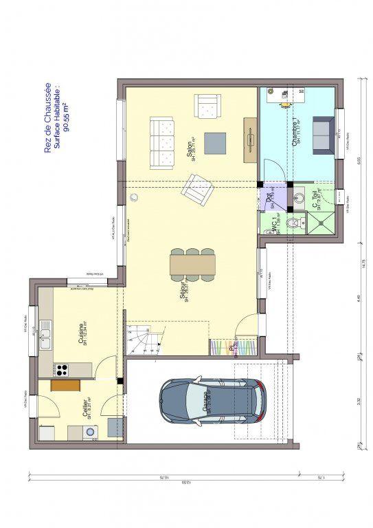 Plan maison rez-de-chaussée Carolini