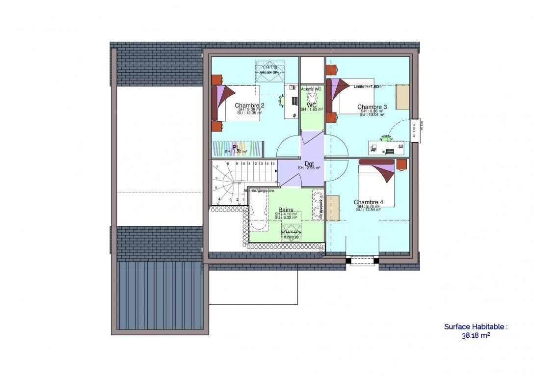 Plan maison Chartrain étage