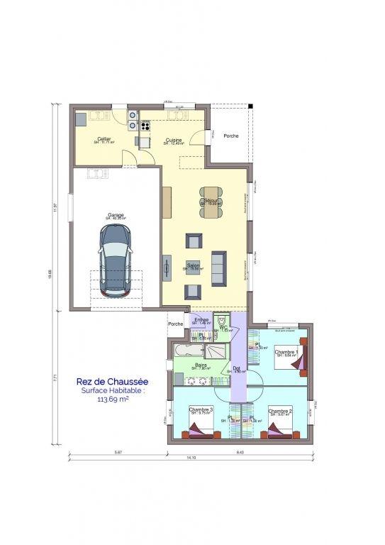 Plan maison Clémenceau rez-de-chaussée