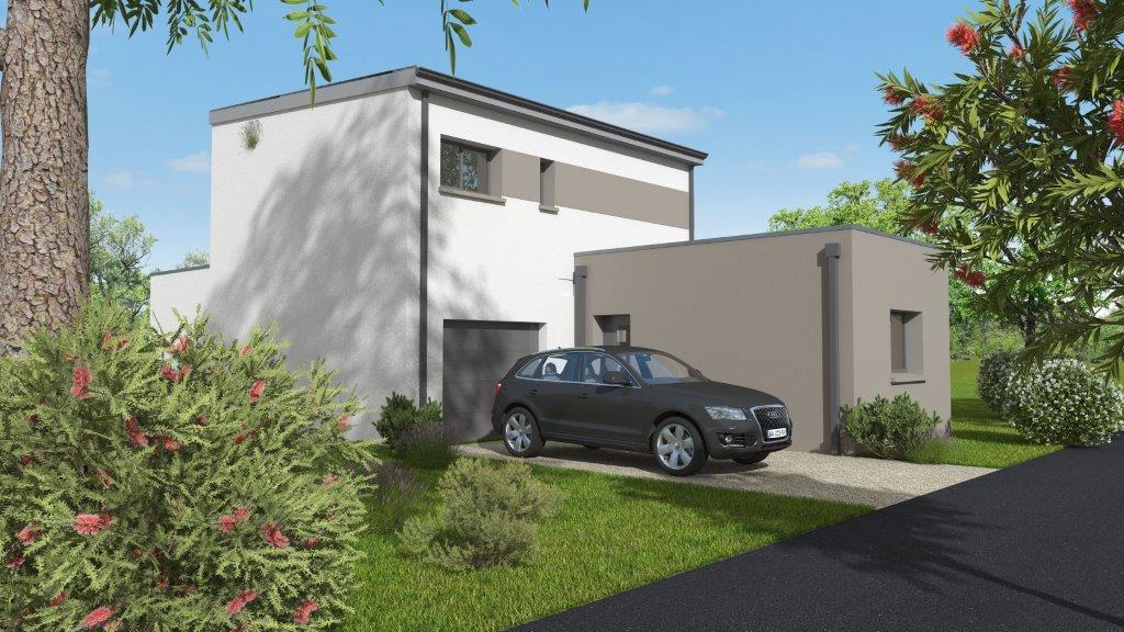 Plan 3D façade avant maison Drouault