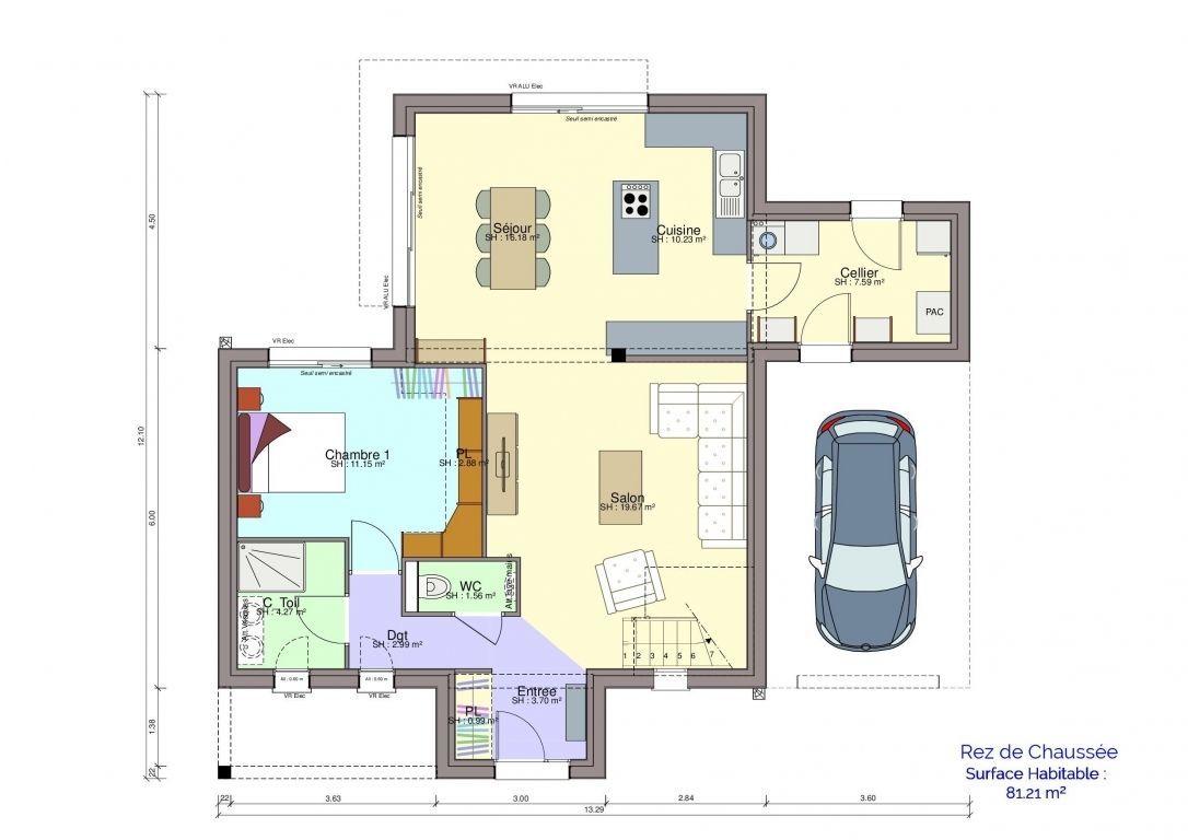Plan maison Demirel rez-de-chaussée