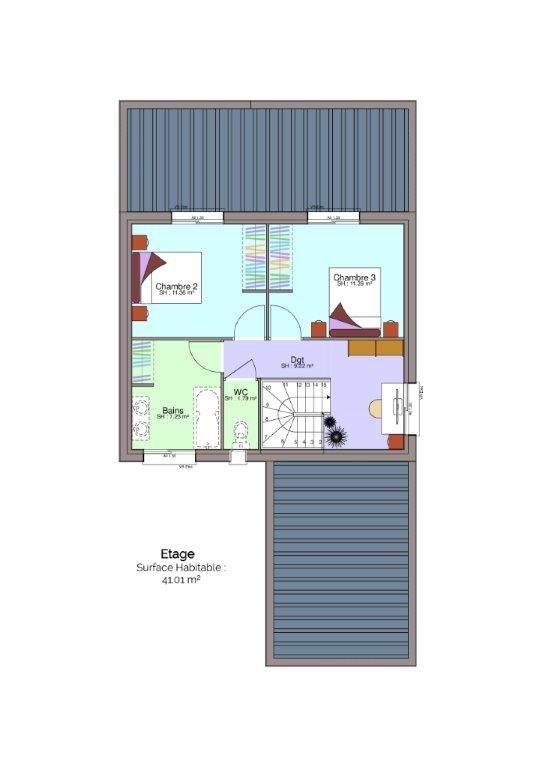 Plan maison Drouault étage