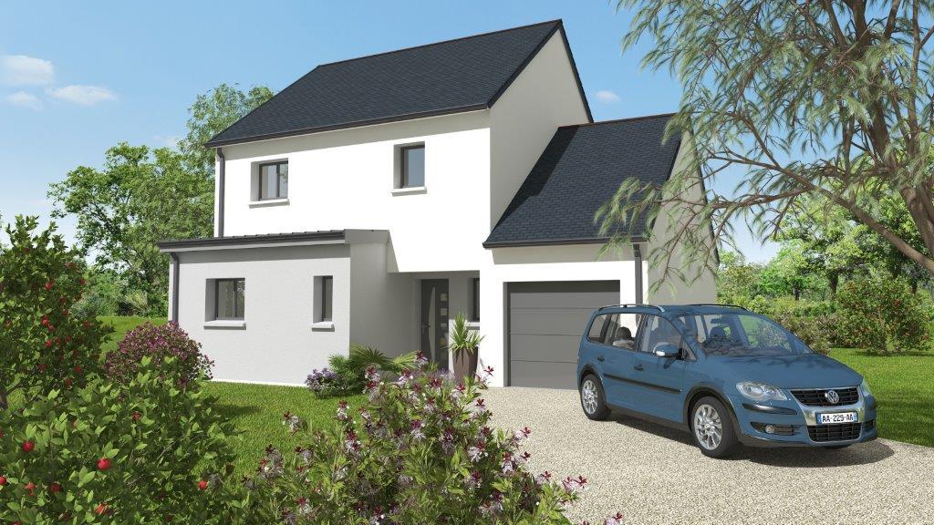 Façade d'une maison neuve - plan 3D