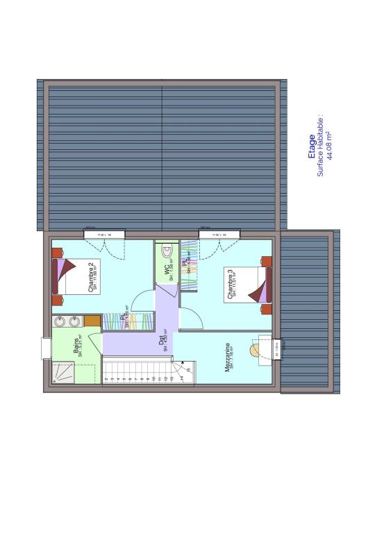 Plan maison étage 2