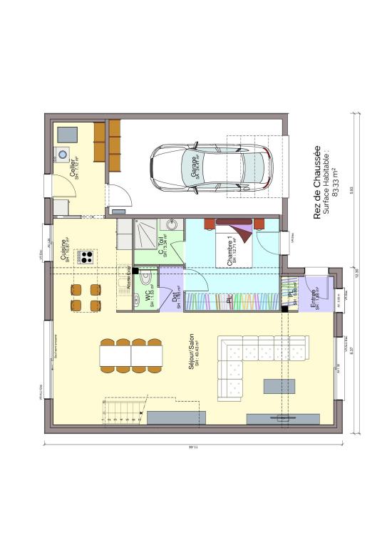 Plan maison rez-de-chaussée 2