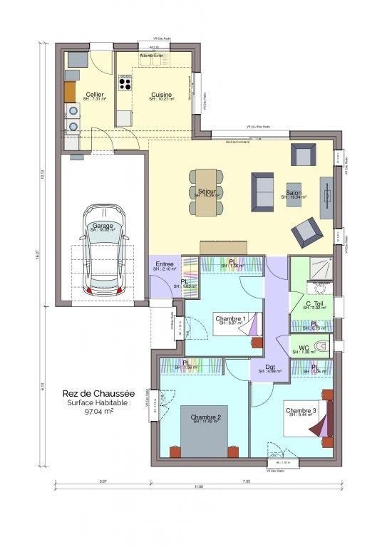 Plan maison Zanzi rez-de-chaussée
