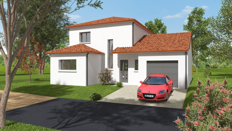 Maison neuve en tuile avec étage