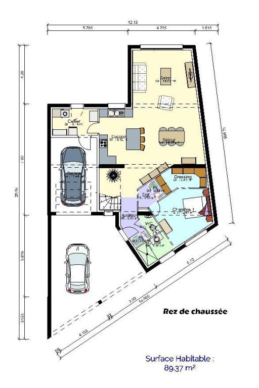 plan maison rdc
