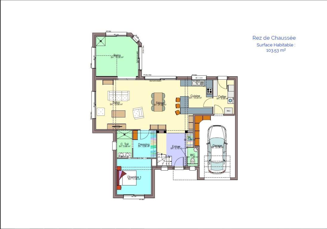 plan de maison meublé